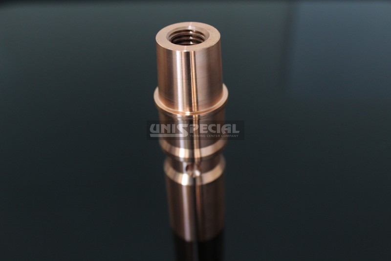60 ° Inclined Hole Brass Connector - application: Electrical Appliances - machined to drawing by Unispecial